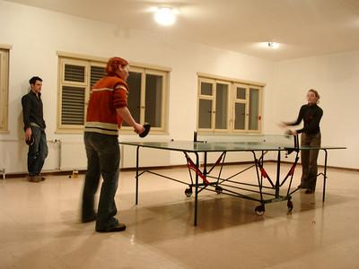 ping pong with Moritz, Katja and Natascha
