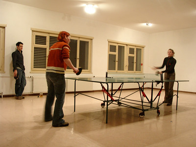 ping pong with Moritz, Katja and Natascha