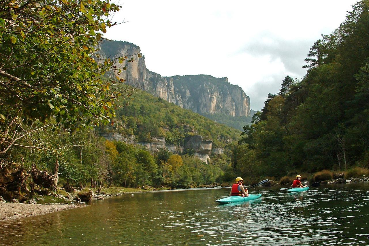 Kayaking on the Tarn