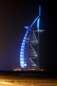 Sleeping at Jumeirah beach, with view of the Burj Al Arab