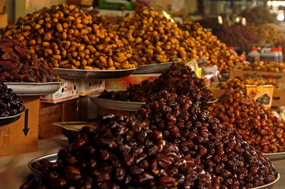 Dates at the vegetable and fruit market