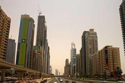 Sheikh Zayed Road (10 lanes, almost no pedestrian crossings....)