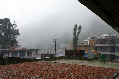 Monsoon - it is raining cats and dogs the majority of the time.
