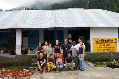 Our group of volunteers in front of the school.