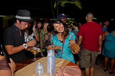 Scenes from the Belize Chocolate Festival, Wine Chocolate & Belikin Night