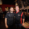 AKA Lightweight MMA fighter Josh Thomson (L) enjoys a post fight dinner with Randy Musterer (R) owner of Sushi Confidential