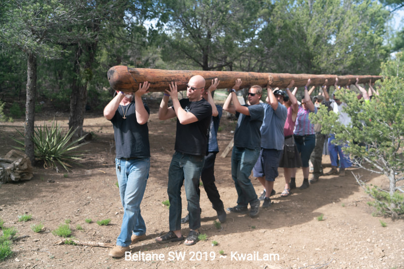 Moving the May Pole