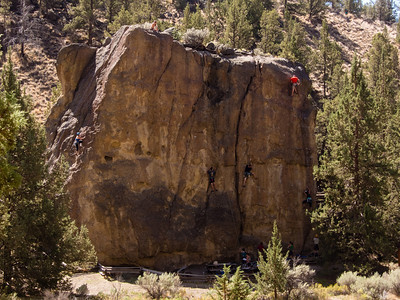 Climbers in action at Smith Rocks