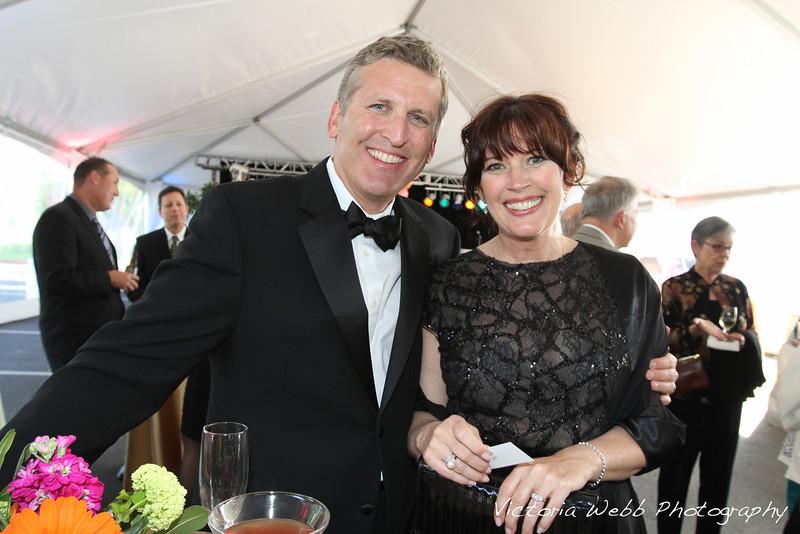 John and Deborah Bortells at the Benedetti Leadership Celebration held on May 3, 2014 at the Petaluma Valley Hospital.