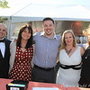 Petaluma Valley Hospital Volunteers, Mark Wilson, Hazel Marston, Wayne Ingraham, Wendi Thomas and Suzanne Cochrane greet guests at end of the red carpet for the Benedetti Leadership Celebration held on May 3, 2014 at the Petaluma Valley Hospital.