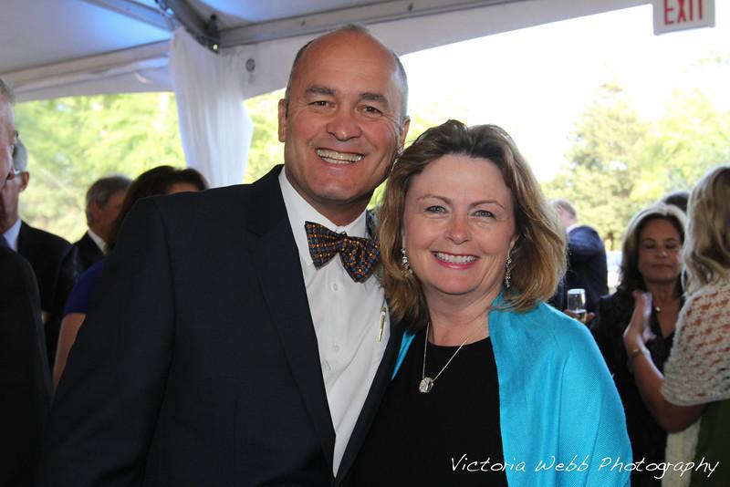 Alan Maciel and Elece Hempel at the Benedetti Leadership Celebration held on May 3, 2014 at the Petaluma Valley Hospital.