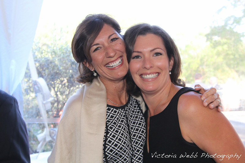 Niessia Diehl and sister, Joanie Benedetti Claussen at the Benedetti Leadership Celebration held on May 3, 2014 at the Petaluma Valley Hospital.
