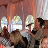 Nicole Trotter, auctioneer at the Benedetti Leadership Celebration held on May 3, 2014 at the Petaluma Valley Hospital.