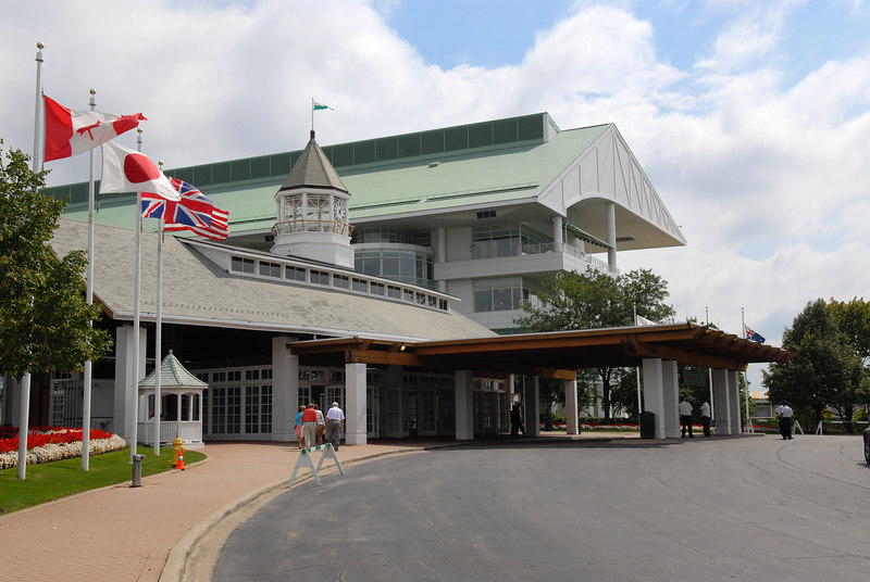Main Entrance to Arlington Park Racetrack