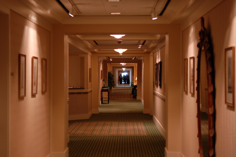 Everybody remember the really long walk to the party room?