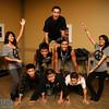 Pyramid of dancers!