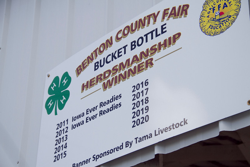 Can the Iowa Ever Readies make it a three-peat in the Bucket Buttle Herdsmanship category?  Find out Friday at the Benton County Fair!