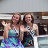Benton County Fair Queen Willow Huber (right) and Rylie Pflughaupt.  Molly Wade photo.