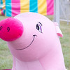 Prizes like this adorable giant pig are waiting for some lucky winner at the Benton Co. Fair carnival.