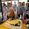 "Berenice Sayre blows out the candles on her cake during the celebration.<br /> Berenice Sayre of Boulder turned 100 years-old in February. She celebrated her birthday during a family reunion with over 60 relatives at North Boulder Park.<br /> For more photos and a video of the celebration, go to  <a href=""http://www.dailycamera.com"">http://www.dailycamera.com</a>.<br /> Cliff Grassmick / July 2, 2011"