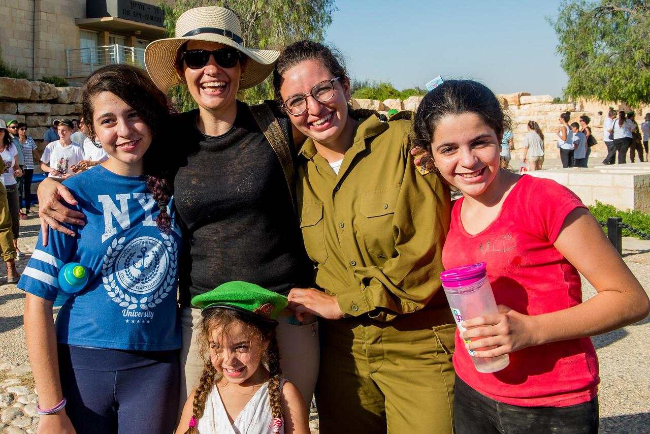 Karakal Beret Ceremony at David Ben Gurion's Grave in Sde Boker