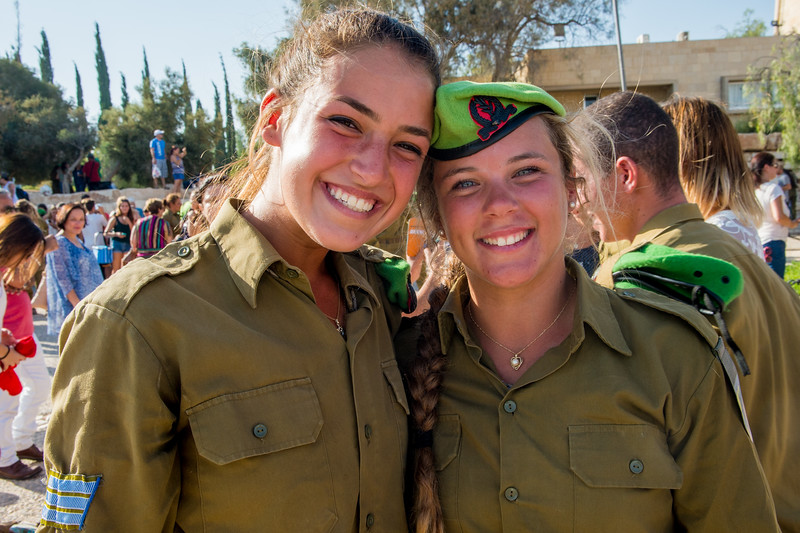 Karakal Beret Ceremony at David Ben Gurion's Grave in Sde Boker