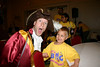 Captain Hook and Austin!  Wonder what Austin just told him!???