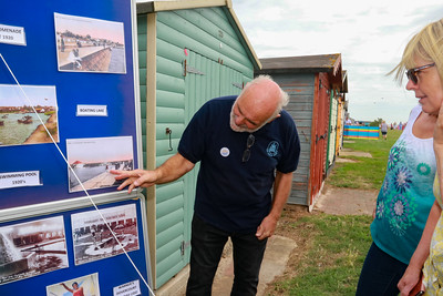 12 AUG 2018 –David Whittle, Harwich Society Vice Chairman and Archivist - Beside the Seaside Festival Dovercourt Bay - Photo Copyright © Maria Fowler 2018