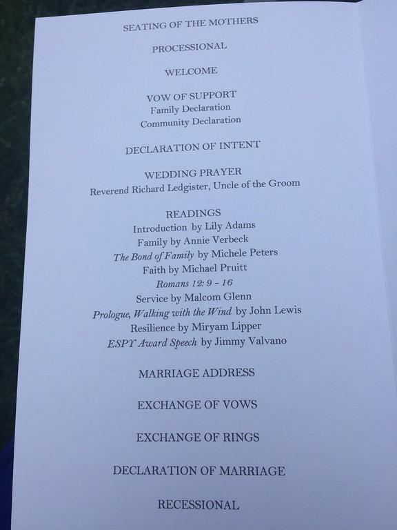 Beth and Tyrone's wedding
