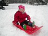 10_Trying out sledging on her own