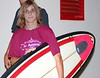 Alex Mctaggart winner of the surfboard raffle