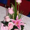 Several floral arrangements graced the tables.