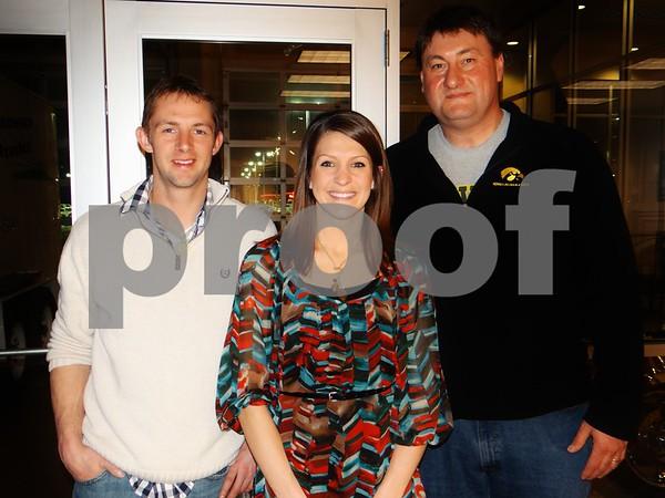 Adam Miller, Carissa Miller, and Dean Kruger