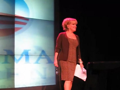 Bette Midler gave a rally for Obama at Krave Theater in Las Vegas Monday, October 20, 2008. Better enters, audience goes wild.