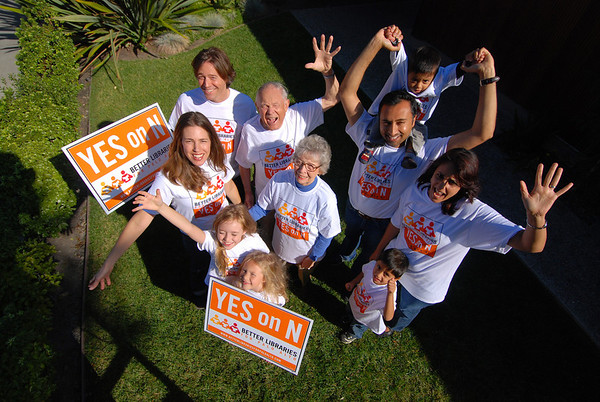 Better Libraries for Palo Alto - Measure N Campaign Supporters Photoshoot
