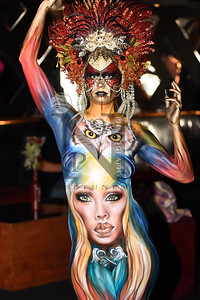 Beyond The Canvas presented the 9th annual Texas Body Paint Competition 2016 at Club Rio in SATX on 19 Nov 2016. Over 20 artists competed to claim the prize of Texas Body Paint Champion with three additional featured artists showing their uniquely creative designs.