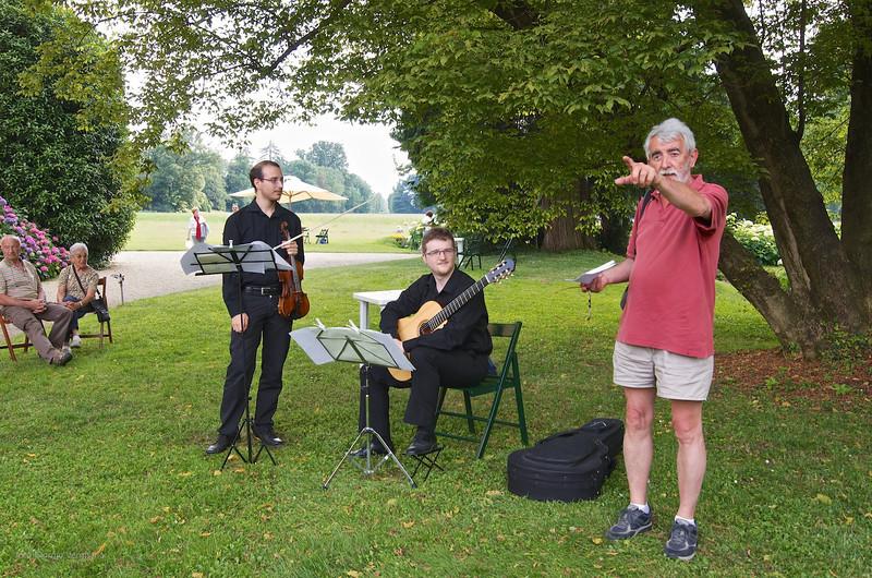 Matteo Chialva (violino), Bruno Zanchetta (chitarra) e Emilio Gardiol
