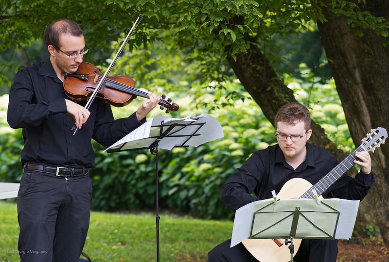 Matteo Chialva (violino), Bruno Zanchetta (chitarra) - parco de il Torrione