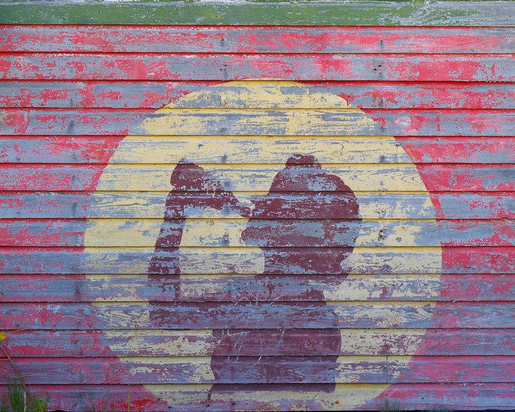 Drink Soda Sign on condemned building<br /> Texas Rte 21 (El Camino Highway)<br /> November 18, 2006