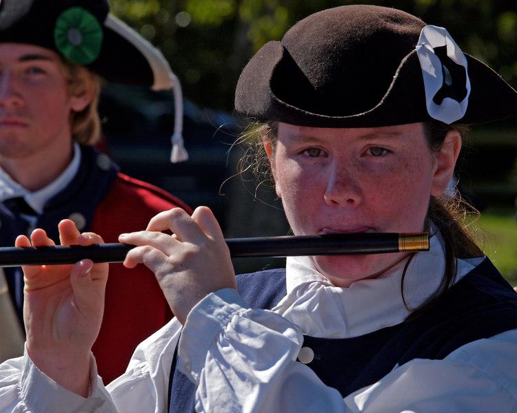 Deep River Jr. Ancients Fife & Drum Corps<br /> Yorktown National Battlefield<br /> Yorktown, Virginia  - October 21, 2006