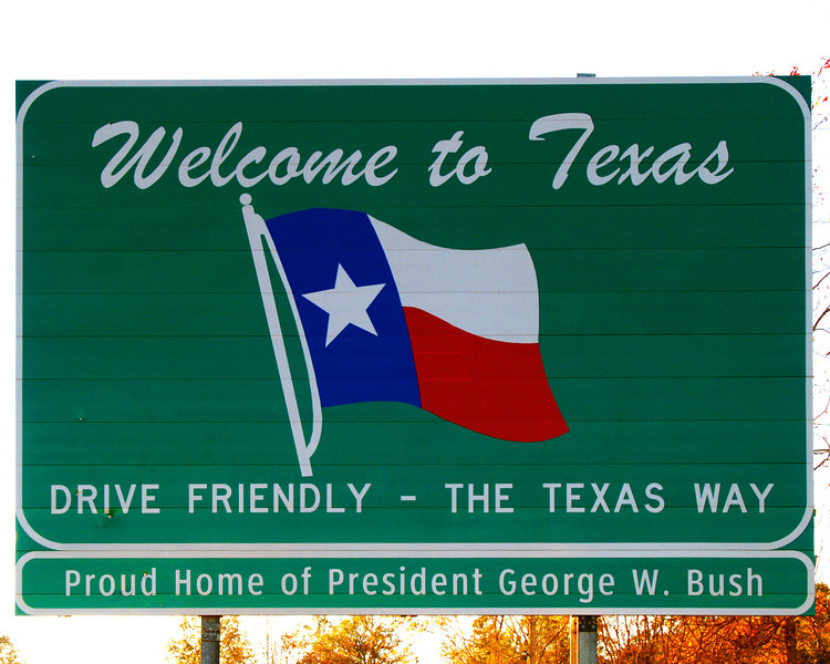 Texas State Border<br /> Toledo Bend Reservoir<br /> Texas Route 21<br /> 16 November 2006