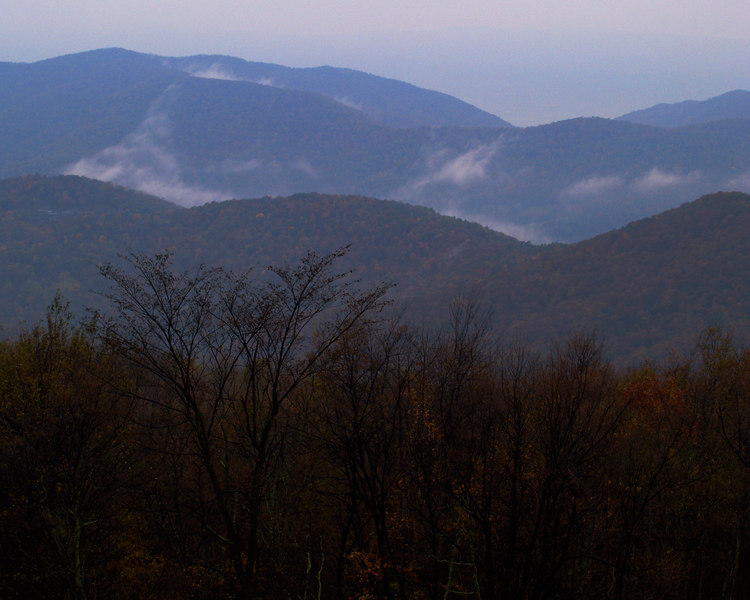 Western View, Skyline Drive, Virginia<br /> Shenandoah National Park<br /> Virginia  - October 27, 2006