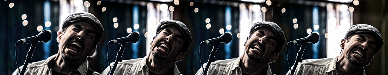 """Using a Canon EOS 1D Mark III camera, shooting at 10 frames per second, I caught this sequence of Kevin Selfe's performance of Muddy Waters song, """"I'm A Man"""". http://kevinselfe.com/"""