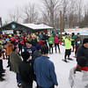 Record-Eagle/Keith King<br /> Participants make their way toward the starting line Saturday, January 19, 2013 prior to the start of the Bigfoot Snowshoe Race 5k/10k at Timber Ridge Resort.