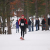 Record-Eagle/Keith King<br /> Kevin Deyo (72), of Traverse City, finishes first in the men's 5k Saturday, January 19, 2013 during the Bigfoot Snowshoe Race 5k/10k at Timber Ridge Resort.