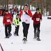 Record-Eagle/Keith King<br /> Jeb Stone (508), of Traverse City, finishes first in the mens 10k Saturday, January 19, 2013 during the Bigfoot Snowshoe Race 5k/10k at Timber Ridge Resort.