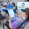 Shelly Wright checks her casting form while waiting for Saturday's open casting call for The Biggest Loser 11 at Broomfield's 1st Bank Center. This is Wright's second time to apply for the show.<br /> July 17, 2010<br /> Staff photo/ David R. Jennings