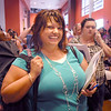 Doreen Talarico waits with about 550 other people during Saturday's open casting call for The Biggest Loser 11 at Broomfield's 1st Bank Center.<br /> July 17, 2010<br /> Staff photo/ David R. Jennings