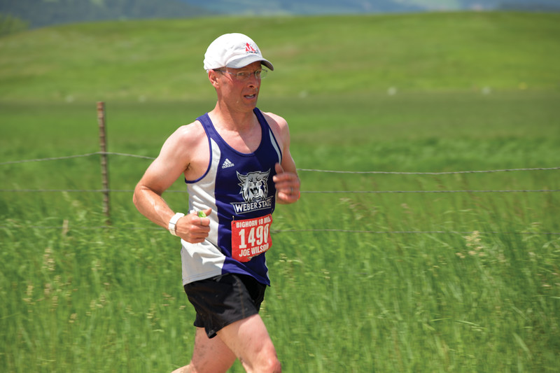 Matthew Gaston | The Sheridan Press<br>Lingle, Wyoming's Joe Wilson finshed in first place for the 18 mile Bighorn Trail Run Saturday, June 15, 2019.