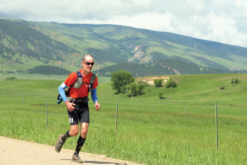 Matthew Gaston | The Sheridan Press<br>Brian Frankle from Bend, Oregon finished the 100 mile Bighorn Trail Run in 14th place Saturday, June 15, 2019.